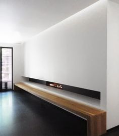 La Suite West Hotel, London by Anouska Hempel Design. Living Tv, My Living Room, Living Spaces, Modern Fireplace, Fireplace Design, Linear Fireplace, Interior Architecture, Interior And Exterior, Strip Led