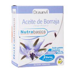 El Aceite de Borraja es obtenido de las semillas de Borago officinalis L, el cual es rico en Ácido Gamma Linolénico (GLA), un Ácido graso esencial, de la serie omega 6. Gracias a su aporte en Vitamina E, contribuye a la protección de las células frente al daño oxidativo.