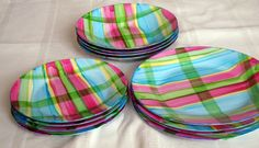 Set of 12 hand painted plates by FFArtcraft on Etsy, £38.00