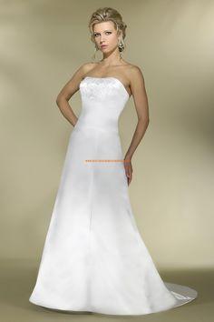Robe de mariée bustier simple avec traîne