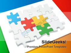 Colored Puzzle Teamwork PowerPoint Templates And PowerPoint Backgrounds 0211 #PowerPoint #Templates #Themes