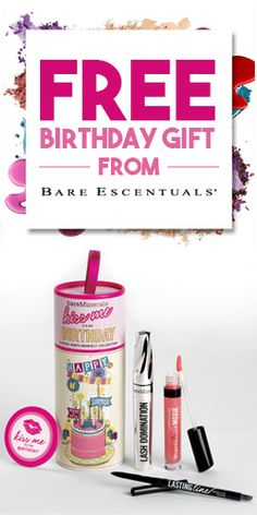 Free Birthday Gift From Bare Escentuals