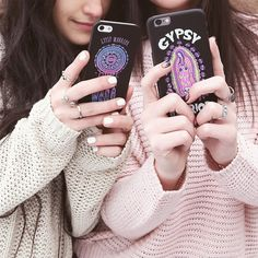 NEW PHONE CASES! Make sure your phone is as cute as your #ootd! For iPhone 6's, 5c's &... Gypsy Warrior, Materialistic, Gypsy Soul, New Phones, Walkie Talkie, Goodies, Ootd, Tech, Phone Cases
