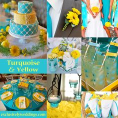 [ Summer Wedding Color Schemes Turquoise Wedding Color Perfect 17 ] - Best Free Home Design Idea & Inspiration Yellow Wedding Colors, Spring Wedding Colors, Yellow Weddings, Yellow Theme, Wedding Summer, Wedding Turquoise, Orange Wedding, Summer Colors, Wedding Color Combinations