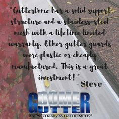 See what 1,000's of satisfied homeowners all over the nation are saying about GutterDome! Link in BIO!! #reviews #gutterdome #gutterprotection #gutters #homeimprovement