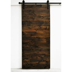 Modern Slab Wood 1 Panel Stained Interior Barn Door & Reviews | AllModern