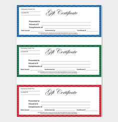 Birthday Gift Certificate Template  Gift Certificate Templates
