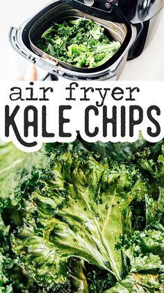 Air Fry Recipes, Air Fryer Dinner Recipes, Air Fryer Recipes Easy, Air Fryer Recipes Kale Chips, Tofu, Fried Kale, Making Kale Chips, Kale Chip Recipes, Baked Kale Recipes