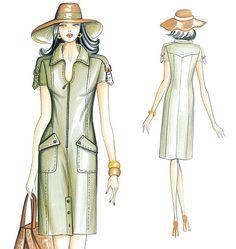 Robes, Tabard, Pants, Hood and Belt Marfy Patterns, Vogue Patterns, Coat Patterns, Dress Patterns, Sewing Patterns, Daily Fashion, Retro Fashion, Vintage Fashion, Fashion Illustration Sketches