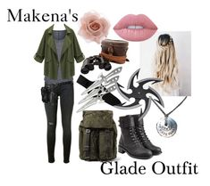 """""""Maze Runner OC Makena's Outfit #1"""" by dre4mingfantasy ❤ liked on Polyvore featuring Dolce&Gabbana, Hudson, Elie Tahari, Chicnova Fashion, Holster, Philosophy di Lorenzo Serafini, Accessorize and Lime Crime"""