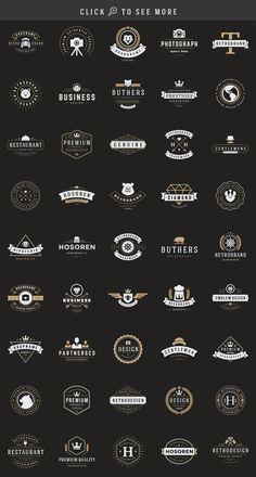 150 Retro Vintage Logotypes by Vasya Kobelev on @creativemarket