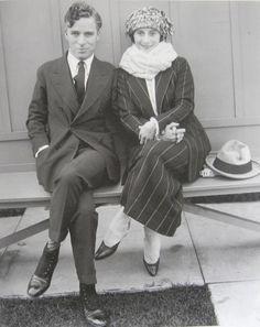 Anna Pavlova and Charlie Chalin at the Chaplin Studios, c. 1922