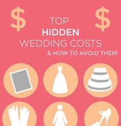 Love these super simple tips to avoid hidden costs that totally blow the wedding budget! Who knew? Awesome infographic from @Jam + Toast Weddings
