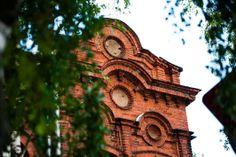 Red bricks building in Daugavpils
