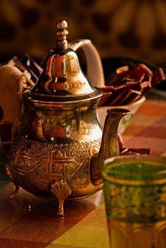 Bule de chá marroquino.