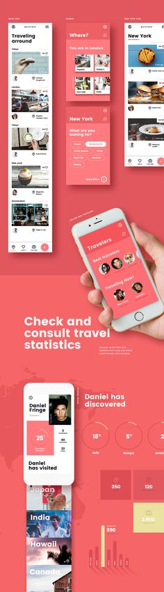 Routetrip - Travel APP on Behance Design Responsive, App Ui Design, User Interface Design, Application Design, Mobile Application, Mobiles, Mobile Web Design, Music App, Ui Web