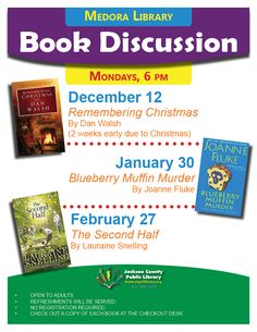 Check out a book at the Medora checkout desk and join the book discussion!