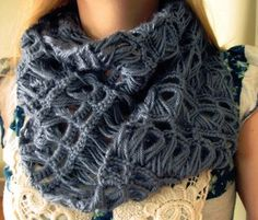 Infinity Broomstick Lace Scarf | AllFreeCrochet.com