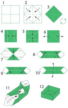 origami tattoo origami design origami step by step Diy Origami Box, Origami Box With Lid, Basic Origami, Origami Simple, Origami Box Tutorial, Origami Ball, Useful Origami, Paper Crafts Origami, Paper Crafting