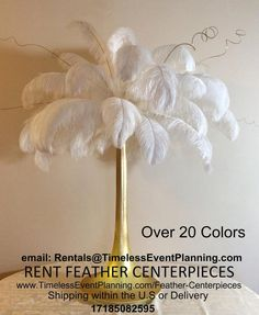 Great Gatsby Feather Centerpieces Supplies by Sweet16CandleHolder, $3.99