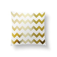 Gold Zig Zag Pillow, Glamour Pillow, Home Decor, Cushion Cover, Throw Pillow, Bedroom Decor,Modern Pillow,Bed Pillow, Fashion Pillow. Every pillow is originally designed by us and handmade. The item cover + insert. SIZE: 16 x 16 inches. Every pillow finished with a zipper.