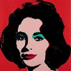 Elizabeth Taylor in Andy Warhol Pop Art