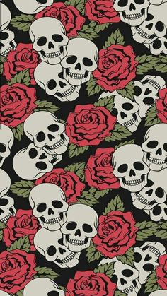 Gothic Wallpaper Skull Pattern Designs Cover Pink