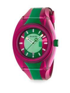 4712e9c7b7c GUCCI Rubber Colorblock Watch.  gucci   Gucci Watch