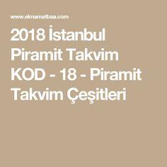 2018 İstanbul Piramit Takvim KOD - 18 - Piramit Takvim Çeşitleri