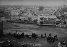Effects of the Denver flood of 1864 - Larimer Street Looking West. Denver, Colorado