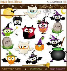 60%OFFSALE Halloween Hoots 12 Piece Png & by LittlePumpkinsPix