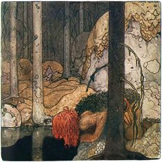 "Illustration by John Bauer for a tale by Vilhälm Nordin in ""Bland Tomtar och Troll"" (1912 ed)"