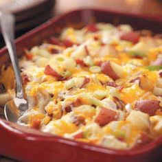 This Twice-Baked Potato Casserole is excellent for leftovers on the go! #BakingDreams #GetYourBakeOn