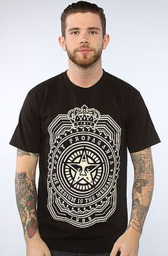 53a62dad The Medium Is The Message Tee in Black by Obey Cracked Lips, Streetwear  Fashion,