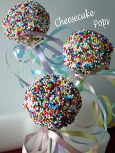 the repressed pastry chef: Cheesecake Pops - Daring Bakers April Challenge