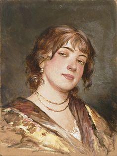 A portrait of a young Italian woman_Eugene-de-Blaas_768x1020