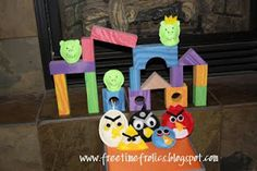 Free Time Frolics: Angry Birds (bean bags)