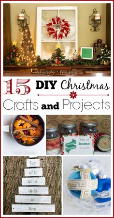 Need some homemade inspiration for the busiest season of the year? Here are 15 easy DIY Christmas crafts and projects for both the novice and expert from DIY blogger Marty's Musings. Includes everything from home decor to gifts to holiday cards. Something for everyone!