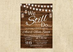Love You Still Signature White Vow Renewal Invitations in White or