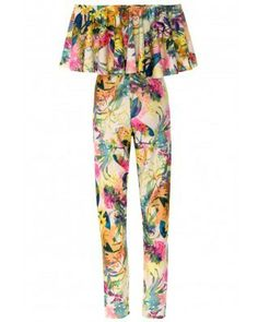 FLORAL FRILL JUMPSUIT via Pop Apparel                  . Click on the image to see more!