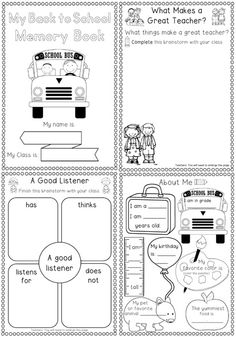 Back to School Memory Book for grades 1-2. PLUS a free via our blog. If you are…