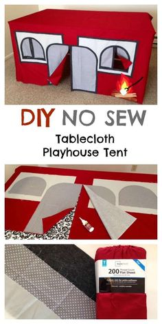 This is the BEST Indoor Camping Playhouse for Kids Anywhere - Let us help you create your own indoor camping tent for the kids. It's SUPER EASY #diyplayhouse #buildplayhouseeasy
