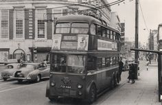 February 1962 in Kingston town centre and 1940 Class is on Route 604 which ceased in May Pamlin. Kingston Town, Kingston Upon Thames, Routemaster, London Transport, Vintage London, Surrey, Buses, 1960s, Centre