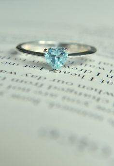 Blue Topaz Heart Ring/ Promise Ring/Engagement Ring/Size 6 Ring by WhiteRoseJew. Blue Topaz Heart Ring/ Promise Ring/Engagement Ring/Size 6 Ring by WhiteRoseJew…, Cute Promise Rings, Cute Rings, Pretty Rings, Beautiful Rings, Stylish Jewelry, Cute Jewelry, Jewelry Accessories, Fashion Jewelry, Silver Jewelry