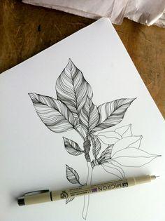 Desenho com nanquim de Mia Nolting
