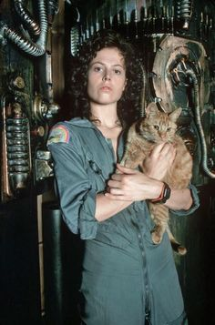 Sigourney Weaver as Ellen Ripley in Alien, 1979 Alien 1979, Alien Sigourney Weaver, Alien Films, Aliens Movie, Saga Alien, Conquest Of Paradise, Pet Sematary, Harry Dean Stanton, Film Mythique