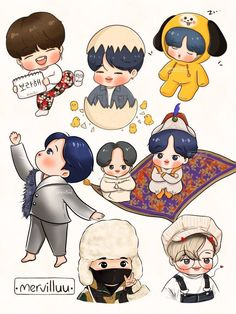 Chibi Boy, Bts Chibi, Bts Girl, Bts Backgrounds, Golden Child, Bts Fans, Jikook, Bts Jimin, South Korean Boy Band
