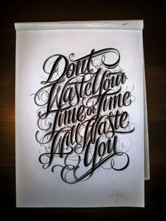 dont waste your time... by Mateusz Witczak, via Behance