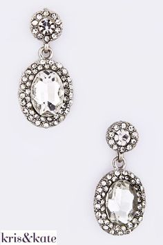 Vintage look earrings in crystal.  $14  http://www.krisandkate.com/index.php/holiday-gift-guide.html