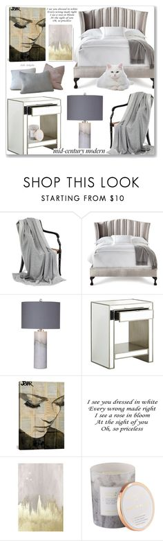 """#36 Clean Spaces, Mid-Century Modern: 27/07/17"" by solyda-sok ❤ liked on Polyvore featuring interior, interiors, interior design, home, home decor, interior decorating, Haute House, Basset Mirror Company, Pier 1 Imports and iCanvas"